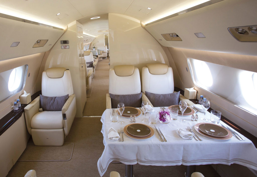 inside jet cabin